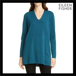 NEW EILEEN FISHER WOOL V-NECK SWEATER